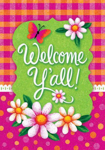 Welcome Ya'll Garden Flag
