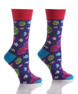 Women's Go Fish Crew Socks