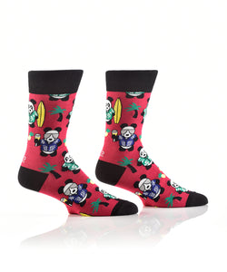 Men's Party Panda Crew Socks
