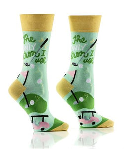 Women's Golf Life Crew Socks