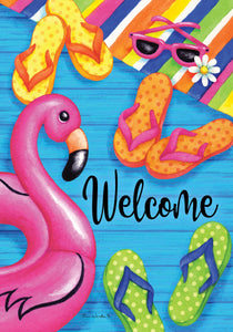 Summer Welcome Garden Flag