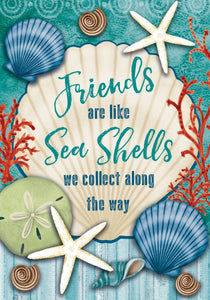 Friends & Seashells Garden Flag