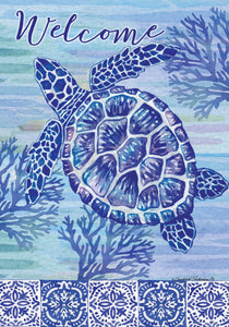 Turtle & Tiles Welcome Garden Flag