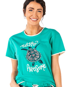 Turtley Awesome Women's Regular Fit PJ Tee