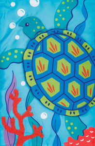 Sea Turtle Applique Garden Flag