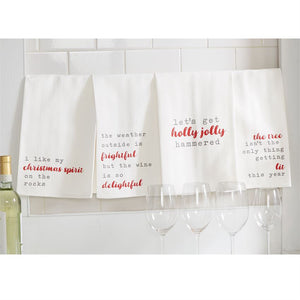 Holiday Drinking Dish Towels