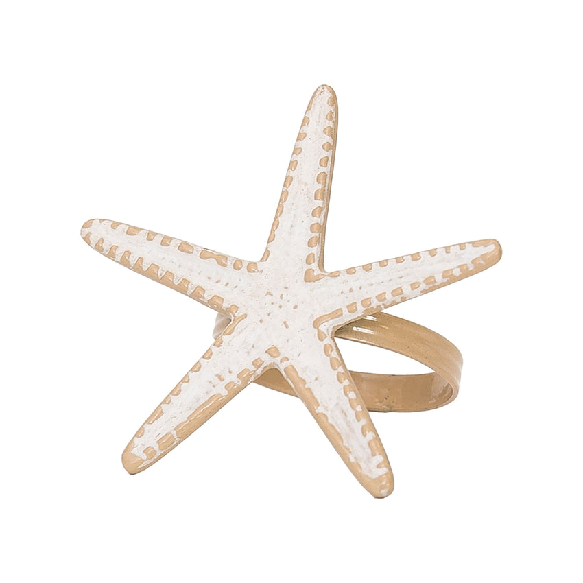 Starfish Whitewashed Napkin Ring