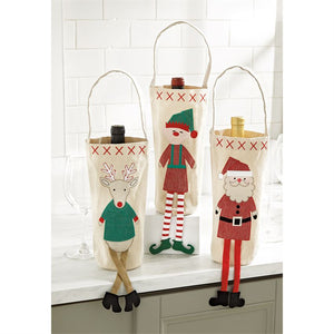 Holiday Dangle Leg Wine Bags