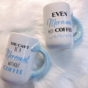 Mermaids Need Coffee Jumbo Mug