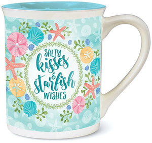 Salty Kisses & Starfish Wishes Bay Mug