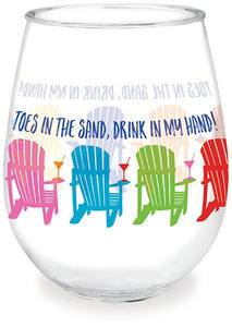 Toes in the Sand Wine Tumbler