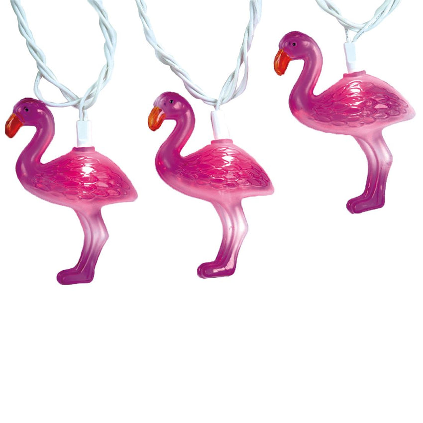 Pink Flamingo String Lights