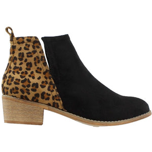 Shield Faux Suede Bootie