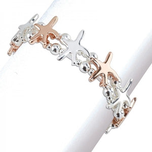 Terrific Tri-Tone Starfish Bracelet