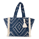 Jacquard Fringe Tote - Available in 2 Colors