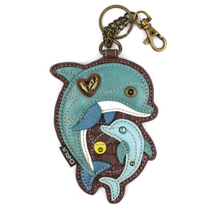 Dolphin Key FOB / Coin Purse