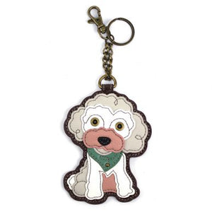 Poodle Key FOB / Coin Purse