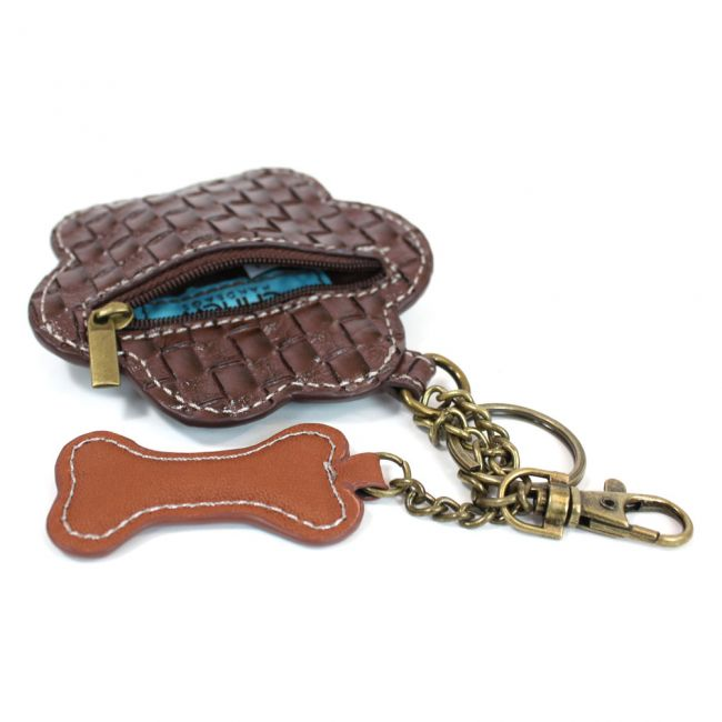 Teal Paw Print Key FOB / Coin Purse