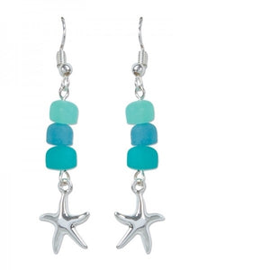 Sea Glass & Starfish Earrings