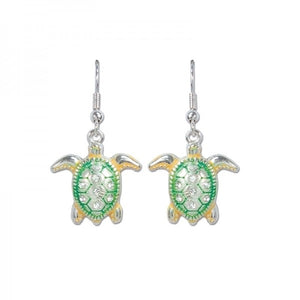 Colorful Crystal Turtle Earrings