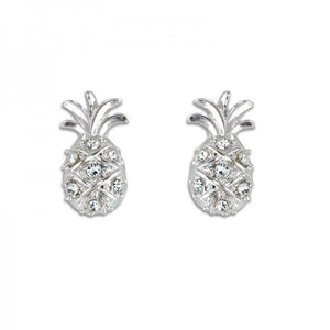 Shimmering Studded Pineapple Earrings
