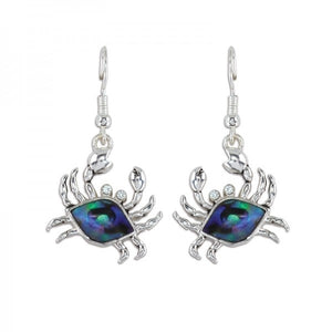 Abalone Crab Earrings