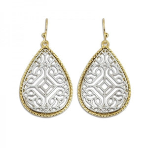 Lattice Teardrop Earrings