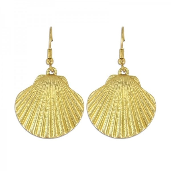 Classic Gold Scallop Shell Earrings