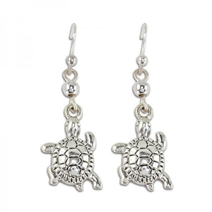 Silver Turtle Earrings