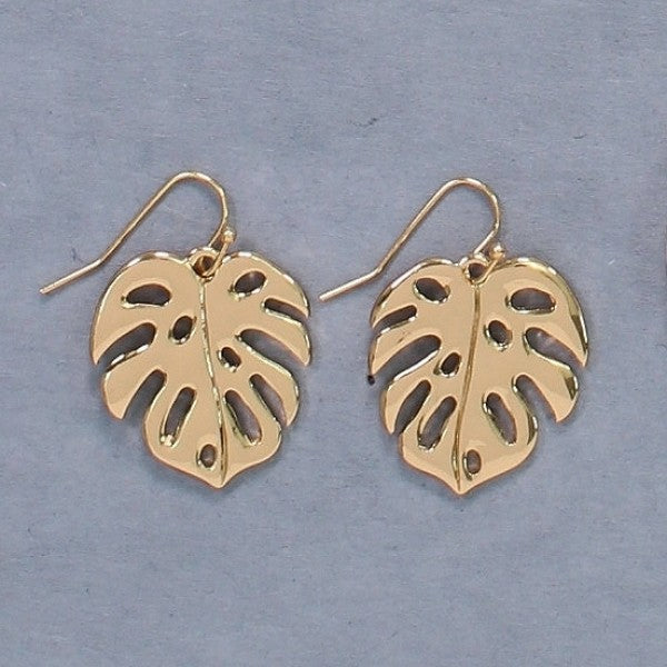 Gold Palm Leaves Earrings
