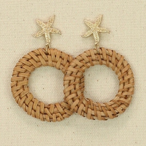 Rattan with Starfish Earrings