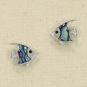 Abalone Fish Earrings