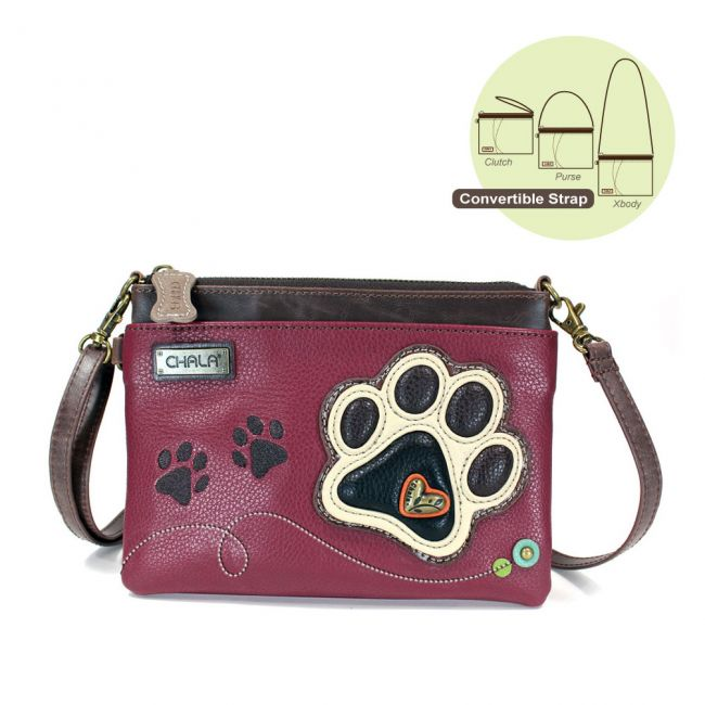 Ivory Paw Print Mini Crossbody