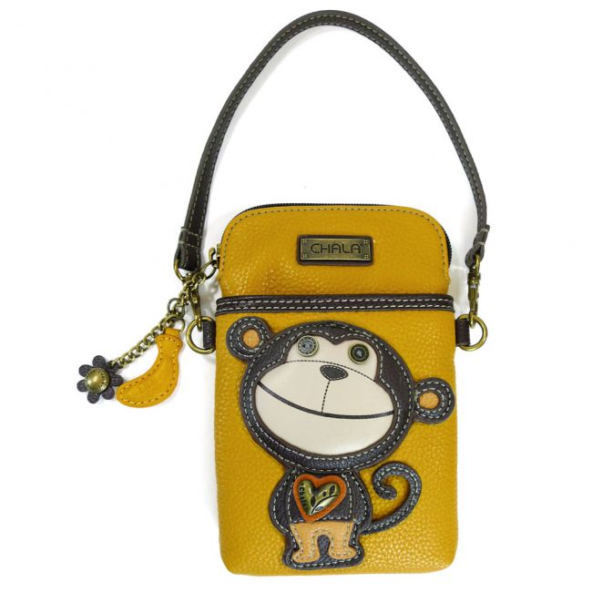 Monkey Cell Phone Crossbody