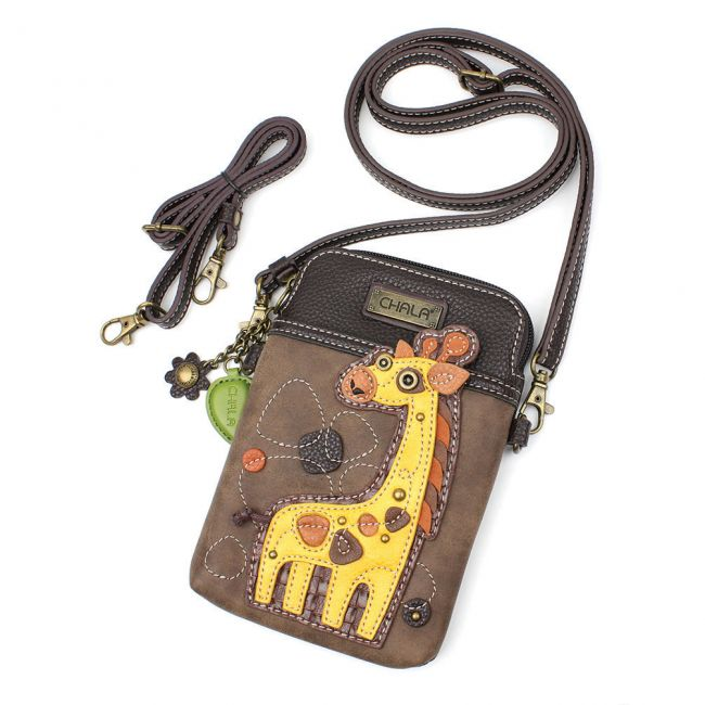 Giraffe Cell Phone Crossbody
