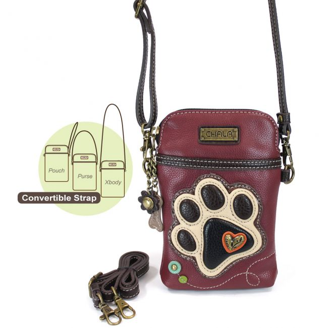 Ivory Paw Print  Cell Phone Crossbody