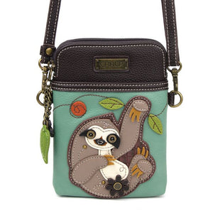 Sloth Cell Phone Crossbody