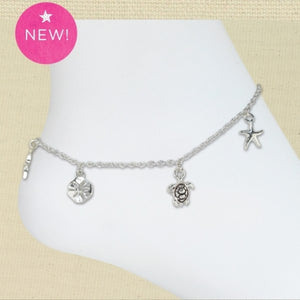 Sealife Charms Anklet