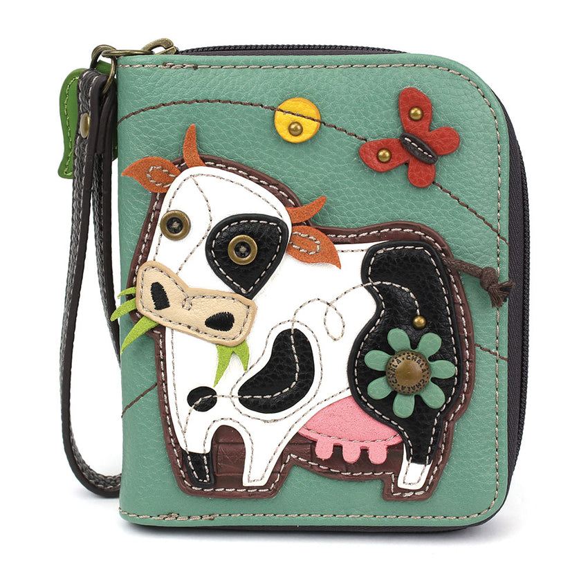 Cow Zip Around Wallet