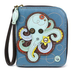 Octopus Zip Around Wallet