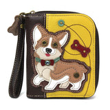 Corgi Zip Around Wallet