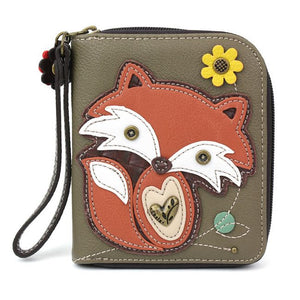 Fox Zip Around Wallet
