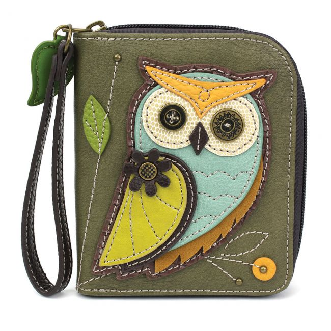 Owl Zip Around Wallet