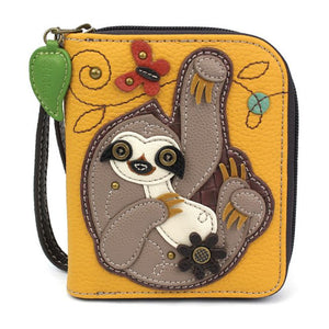 Sloth Zip Around Wallet
