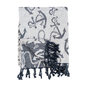 Chenille Anchor Throw