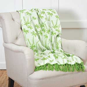 Chenille Palm Trees Throw