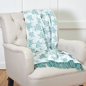 Chenille Sea Turtles Throw