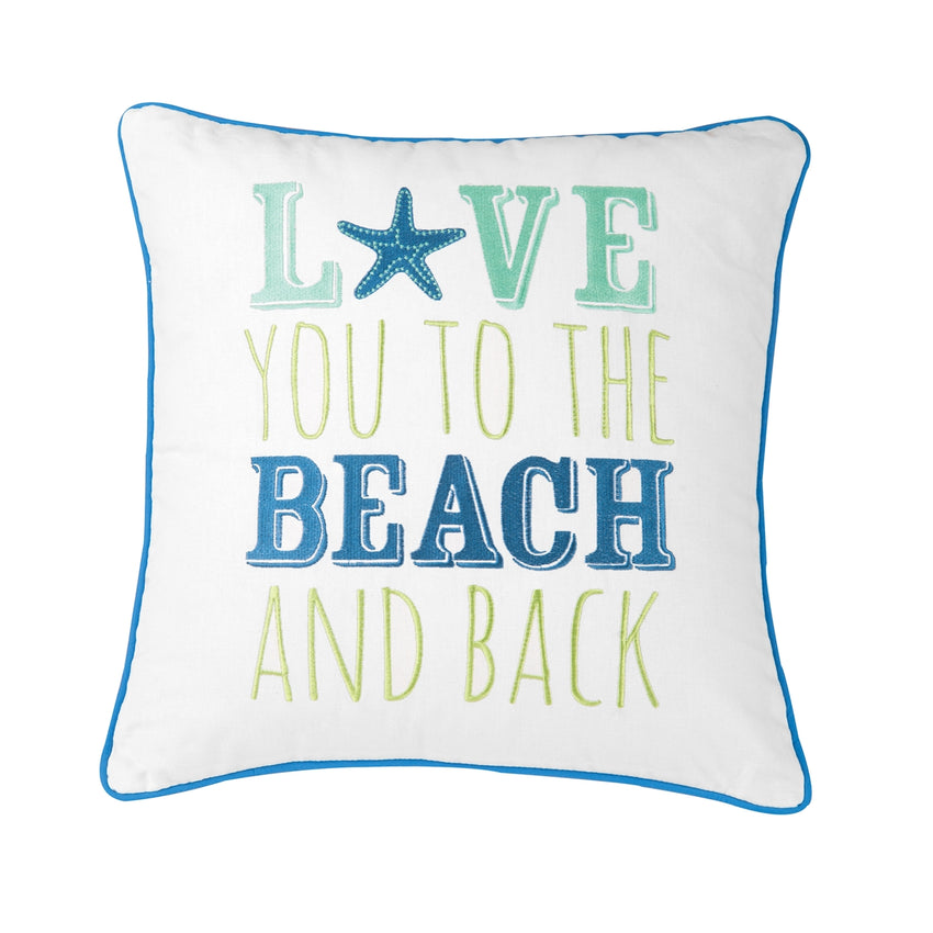 Love You To Beach Pillow
