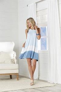 Baylor Swing Dress in Blue