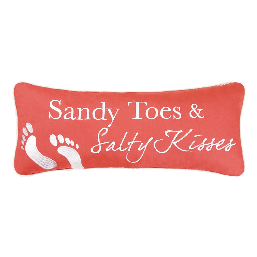 Sandy Toes & Salty Kisses Pillow